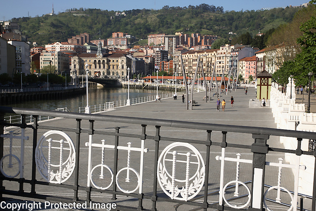 Bridge over River Nervion, Bilbao, Basque Country, Spain