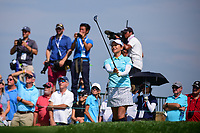 Ai Miyazato (JPN) watches her tee shot on 16 during Thursday's first round of the 72nd U.S. Women's Open Championship, at Trump National Golf Club, Bedminster, New Jersey. 7/13/2017.<br /> Picture: Golffile | Ken Murray<br /> <br /> <br /> All photo usage must carry mandatory copyright credit (&copy; Golffile | Ken Murray)
