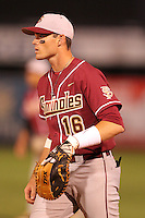 "Florida State Seminoles Jayce Boyd #16 during a game vs. the Florida Gators in the ""Florida Four"" at George M. Steinbrenner Field in Tampa, Florida;  March 1, 2011.  Florida State defeated Florida 5-3.  Photo By Mike Janes/Four Seam Images"