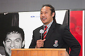 Steelers Coach Tana Umaga at the Counties Manukau Rugby Unions Senior prize giving held at ECOLight Stadium on Wednesday 30th of October 2013.