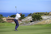 NFL Kansas City Chiefs quarterback Alex Smith plays his 2nd shot on the 4th hole at Spyglass Hill during Thursday's Round 1 of the 2018 AT&amp;T Pebble Beach Pro-Am, held over 3 courses Pebble Beach, Spyglass Hill and Monterey, California, USA. 8th February 2018.<br /> Picture: Eoin Clarke | Golffile<br /> <br /> <br /> All photos usage must carry mandatory copyright credit (&copy; Golffile | Eoin Clarke)