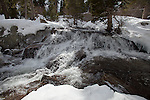 """The River""  Eagle Falls waterfall at Emerald Bay, Lake Tahoe, CA.  I hiked out to Lower Eagle Falls above Emerald Bay during the Winter of 2013. The road was closed due to avalanche danger so I had the whole area to myself for the entire day.  Emerald Bay may be the most visited and photographed area in all of Lake Tahoe but on a few days you can enjoy the beauty in solitude. I shot both stills and HD 1080 video of the waterfall and Emerald Bay."