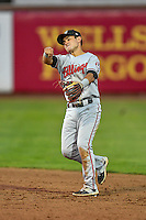 Alejo Lopez (5) of the Billings Mustangs during the game against the Ogden Raptors in Pioneer League action at Lindquist Field on August 12, 2016 in Ogden, Utah. Billings defeated Ogden 7-6. (Stephen Smith/Four Seam Images)