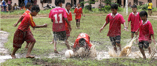 They also enjoy sports activities run by Grassroots, such as this annual football competition between the workers on different plantations.