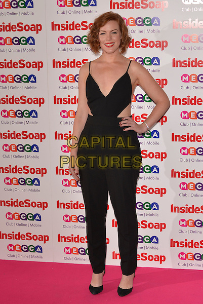 Niamh McGrady<br /> Inside Soap Awards at Ministry Of Sound, London, England.<br /> 21st October 2013<br /> full length black jumpsuit hand on hip cut out away sides <br /> CAP/PL<br /> &copy;Phil Loftus/Capital Pictures