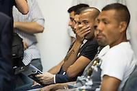 RIO DE JANEIRO, RJ, 29.09.2014. JULGAMENTO STDJ - Émerson, jogador do Botafogo, durante julgamento no Supremo Tribunal de Justiça Desportiva (STJD), realizado no Centro da cidade, nesta segunda-feira, 29. (Foto: Gustavo Serebrenick / Brazil Photo Press).
