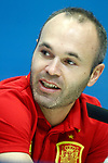 Spain's Andres Iniesta during comercial event after training session. March 21,2017.(ALTERPHOTOS/Acero)