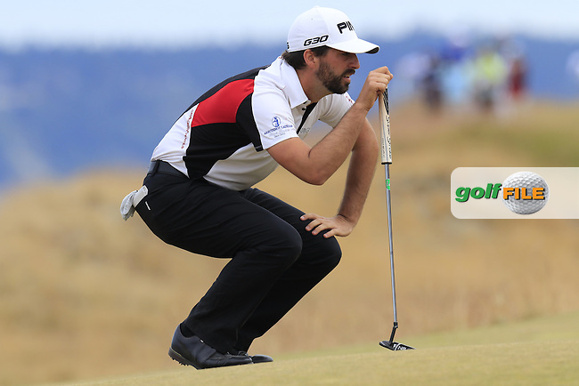 John PARRY (ENG) on the 17th green during Thursday's Round 1 of the 2015 U.S. Open 115th National Championship held at Chambers Bay, Seattle, Washington, USA. 6/18/2015.<br /> Picture: Golffile | Eoin Clarke<br /> <br /> <br /> <br /> <br /> All photo usage must carry mandatory copyright credit (&copy; Golffile | Eoin Clarke)