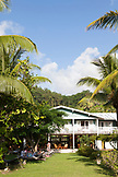 FRENCH POLYNESIA, Raiatea. The Raiatea Lodge on Raiatea Island.