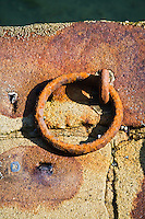 Europe/France/Bretagne/29/Finistère/Douarnenez: Détail d'un vieil anneau d'amarrage sur l la jetée  du port