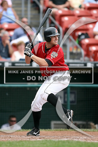 July 20th 2008:  Todd Linden of the Buffalo Bisons, Class-AAA affiliate of the Cleveland Indians, during a game at Dunn Tire Park in Buffalo, NY.  Photo by:  Mike Janes/Four Seam Images