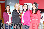 SANCTUARY BEAUTY ACADEMY: Zoe Clarke make-up artist to the stars with former Miss Ireland Andrea Roche at the Sanctuary Beauty Academy open day at the Brandon hotel, Tralee on Saturday l-r: Fiona O'Donoghue (Sanctuary Spa), Zoe Clarke, Marryanne Brosnan (Sanctuary Spa) and Andrea Roche.