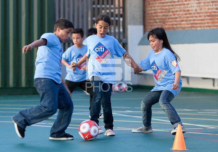 Citi Soccer Kids at Redding Elementary School in San Francisco on September 24th, 2010.