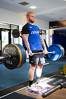 Tom Homer of Bath Rugby in the gym. Bath Rugby pre-season training on July 2, 2018 at Farleigh House in Bath, England. Photo by: Patrick Khachfe / Onside Images