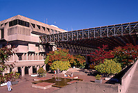 Burnaby, BC, British Columbia, Canada - Simon Fraser University Campus Building on Burnaby Mountain, Autumn