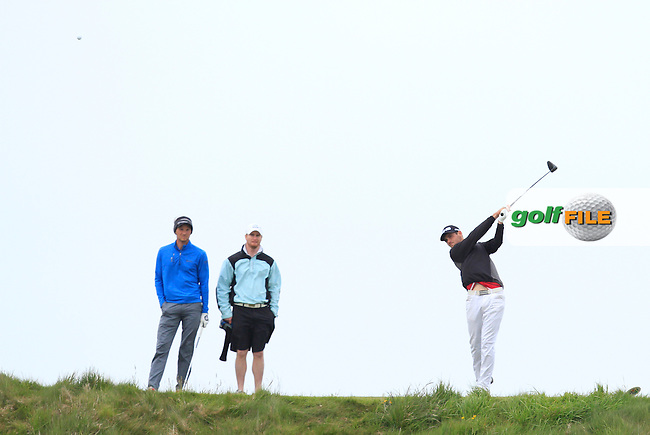 Conor O'Rourke (Naas) on the 14th tee during Round 3 of the Irish Amateur Open Championship at Royal Dublin on Saturday 9th May 2015.<br /> Picture:  Thos Caffrey / www.golffile.ie