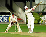 Pix: Shaun Flannery/shaunflanneryphotography.com...COPYRIGHT PICTURE>>SHAUN FLANNERY>01302-570814>>07778315553>>..28th August 1998..............Doncaster Town v Bath..Abbot Ale Cup final at Lords..Doncaster Town's Peter Ellis hits a 4 on his way to 94  runs against Bath in the Abbot Ale Cup at Lords.