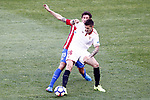 Atletico de Madrid's Stefan Savic (l) and Sevilla FC's Stevan Jovetic during La Liga match. March 19,2017. (ALTERPHOTOS/Acero)