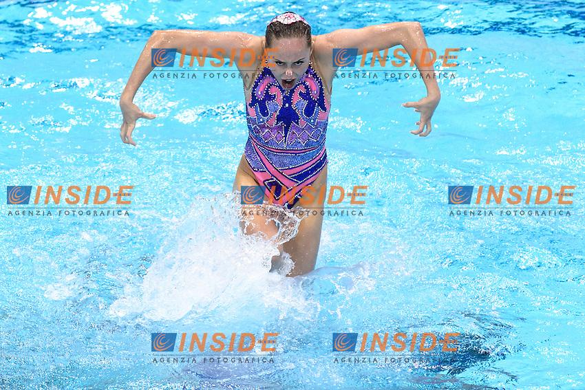 UKRAINE UKR <br /> ANANASOVA Lolita VOLOSHYNA Anna IUSHKO Daria GRECHYKHINA Olena SAVCHUK Anastasiya SYDORENKO Kseniya SABADA Oleksandra SADURSKA Kateryna <br /> Team Free Preliminary  <br /> London, Queen Elizabeth II Olympic Park Pool <br /> LEN 2016 European Aquatics Elite Championships <br /> Synchronized Swimming <br /> Day 03 10-05-2016<br /> Photo Andrea Staccioli/Deepbluemedia/Insidefoto