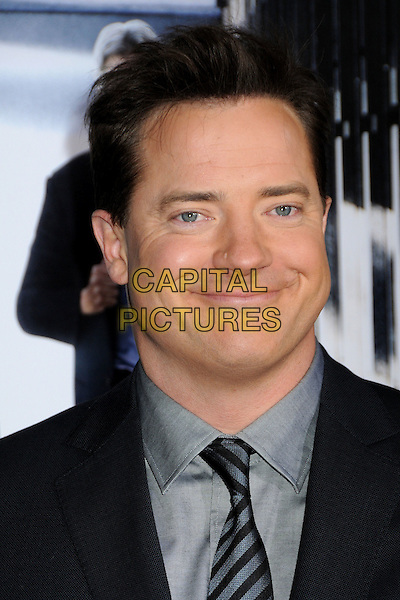"BRENDAN FRASER .""Extraordinary Measures"" Los Angeles Premiere held at Grauman's Chinese Theatre, Hollywood, California, USA..January 19th, 2010.headshot portrait black blue  grey gray funny smiling .CAP/ADM/BP.©Byron Purvis/AdMedia/Capital Pictures."