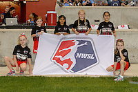Chicago, IL - Saturday Sept. 24, 2016: NWSL flag bearers prior to a regular season National Women's Soccer League (NWSL) match between the Chicago Red Stars and the Washington Spirit at Toyota Park.