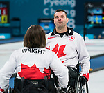PyeongChang 14/3/2018 - Skip Mark Ideson grimmaces as the closeness of the game as Canada takes on Slovakia in wheelchair curling at the Gangneung Curling Centre during the 2018 Winter Paralympic Games in Pyeongchang, Korea. Photo: Dave Holland/Canadian Paralympic Committee