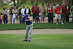 Louis Oosthuizen plays his 2nd shot from the fairway on the 11th hole during Day 2 Friday of the Abu Dhabi HSBC Golf Championship, 21st January 2011..(Picture Eoin Clarke/www.golffile.ie)