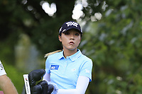 Lydia Ko (NZL) on the 13th tee during Thursday's Round 1 of The Evian Championship 2018, held at the Evian Resort Golf Club, Evian-les-Bains, France. 13th September 2018.<br /> Picture: Eoin Clarke | Golffile<br /> <br /> <br /> All photos usage must carry mandatory copyright credit (© Golffile | Eoin Clarke)