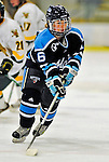 21 February 2009: University of Maine Black Bears' forward Dominique Goutsis, a Freshman from Coquitlam, British Columbia, in action against the University of Vermont Catamounts at Gutterson Fieldhouse in Burlington, Vermont. The Catamounts shut out the Black Bears 1-0. Mandatory Photo Credit: Ed Wolfstein Photo