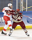 Ryan Jones, Brett Motherwell - The Boston College Eagles defeated the Miami University Redhawks 5-0 in their Northeast Regional Semi-Final matchup on Friday, March 24, 2006, at the DCU Center in Worcester, MA.