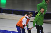 SCHAATSEN: HEERENVEEN: IJsstadion Thialf, 29-12-2012, Seizoen 2012-2013, KPN NK allround, Jeroen Otter (trainer Nationale Trainingsselectie Shorttrack), Gerard Kemkers (trainer/coach TVM), ©foto Martin de Jong