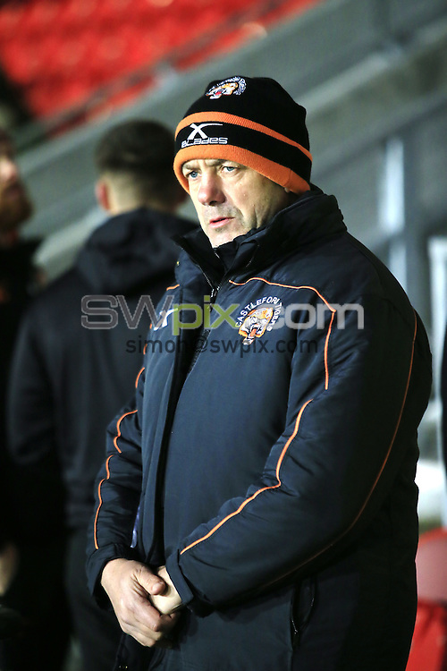 PICTURE BY CHRIS MANGNALL /SWPIX.COM...<br /> Rugby League - Super League - St Helens Saints v Castleford Tigers   - Langtree Park Stadium, , England  - 04/03/16<br /> Castleford's Head Coach Manger Daryl Powell