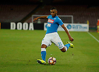 Faouzi Ghoulam <br />  during the  italian serie a soccer match,between SSC Napoli and AC Chievo       at  the San  Paolo   stadium in Naples  Italy , September 25, 2016