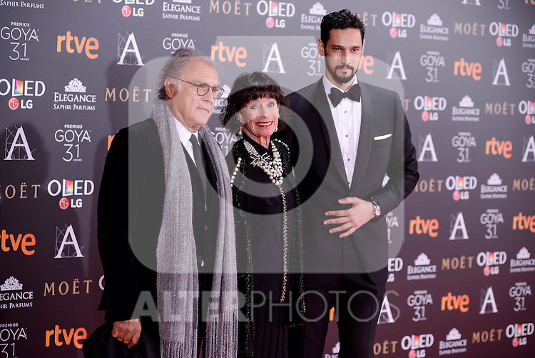 Geraldine Chaplin attends to the Red Carpet of the Goya Awards 2017 at Madrid Marriott Auditorium Hotel in Madrid, Spain. February 04, 2017. (ALTERPHOTOS/BorjaB.Hojas)