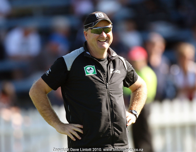 NZ batting coach Mark Greatbatch during day two of the 1st cricket test match between the New Zealand Black Caps v Australia, day two at the Basin Reserve, Wellington, New Zealand on Saturday, 20 March 2010. Photo: Dave Lintott / lintottphoto.co.nz