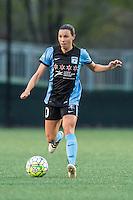 Allston, MA - Saturday, May 07, 2016: Chicago Red Stars midfielder Vanessa DiBernardo (10) during a regular season National Women's Soccer League (NWSL) match at Jordan Field.