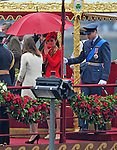 """KATE AND PRINCE WILLIAM ATTEND THAMES PAGEANT.They joined the Queen, Duke of Edinburgh, Prince Charles, Camilla, Duchess of Cornwall and Prince Harry on the """"Spirit of Chartwell"""" for the procession up the Thames to mark the Diamond Jubilee of Queen Elizabeth ll..The Royals braved a toprrential downpour as they watched the flotilla of 1,000 boats file past them alongside the HMS President, Katherine Docks, London_03/06/2012.Mandatory credit photo: ©DIASIMAGES..(Failure to credit will incur a surcharge of 100% of reproduction fees)..                **ALL FEES PAYABLE TO: """"NEWSPIX INTERNATIONAL""""**..IMMEDIATE CONFIRMATION OF USAGE REQUIRED:.DiasImages, 31a Chinnery Hill, Bishop's Stortford, ENGLAND CM23 3PS.Tel:+441279 324672  ; Fax: +441279656877.Mobile:  07775681153.e-mail: info@newspixinternational.co.uk"""