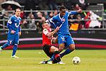 Nederland, Rotterdam, 27 januari  2013.Eredivisie.Seizoen 2012/2013.Feyenoord-FC Twente.Leroy Fer van FC Twente in duel om de bal met Jordy Clasie van Feyenoord