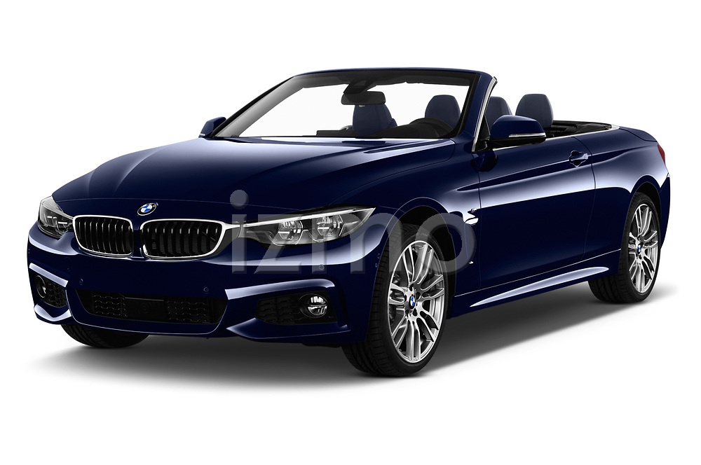 2018 BMW 4 Series M Sport 2 Door Convertible angular front stock photos of front three quarter view