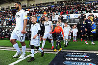 Cameron Carter-Vickers and Connor Roberts of Swansea City during the Sky Bet Championship match between Swansea City and Derby County at the Liberty Stadium in Swansea, Wales, UK. Wednesday 01 May 2019