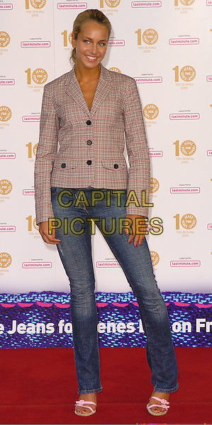 LADY ISABELLA HERVEY.High Street To Haute Couture Gala Fashion Show,.Hotel Inter-Continental, Hyde Park Corner,.London, 8th September 2005.full length tight denim jeans jacket.Great Ormond Street Hospital children's  charity asks people to wear their jeans to work in return for a charity donation. Jeans for Genes..Ref: CAN.www.capitalpictures.com.sales@capitalpictures.com.©Capital Pictures