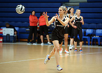 14.10.2016 Silver Ferns Jane Watson in action at the Silver Ferns training at the Auckland Netball Centre in Auckland. Mandatory Photo Credit ©Michael Bradley.