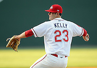 April 28, 2009: RHP Casey Kelly (23) of the Greenville Drive, No. 6 prospect of the Boston Red Sox, in a game against the Savannah Sand Gnats at Fluor Field at the West End in Greenville, S.C. Kelly picked up the win and stood 3-0 with a 0.90 ERA. Photo by: Tom Priddy/Four Seam Images