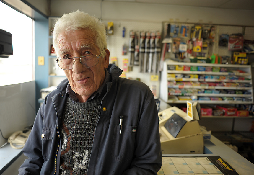 Manny Courtessis, owner and operator of Manny's Place gas station in Shaunavon, Sask, is not happy about the recent spike of oil and gas activity in the area. MARK TAYLOR GALLERY.