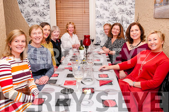 Friends Reunion: Shirley Lyons, Listowel, fourth from right pictured with her friends on their annual reunion dinner at Eabha Joan's restaurant on Saturday night last. L-R: Jacinta Madden, Mary Hennessy, Kathy Sheehy, Marie Cunningham, Triona Scully, Shirley Lyons, Noreen Emerson, Brid Flemming & Rose Kelleher.