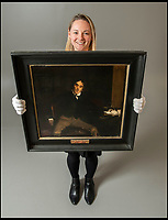 BNPS.co.uk (01202 558833)<br /> Pic: PhilYeomans/BNPS<br /> <br /> Acting Royalty - A majestic portrait of the legendary 19th century actor Sir Henry Irving has emerged for sale for £7,000.<br /> <br /> Irving, painted sitting in his study, was the first actor to be awarded a knighthood when he was bestowed with the honour in 1895.<br /> <br /> Regarded as the Laurence Olivier of his age, he was also said to have been the inspiration for the lead character in Bram Stoker's Dracula.<br /> <br /> The 17ins by 18in oil on canvas painting is a direct copy of a well known portrait of him by the artist Jules Bastien-Lepage hanging in the National Portrait Gallery in Westminster, London.<br /> <br /> The painting has been consigned for sale by Irving's descendants with auction house Dreweatts, of Newbury, Berks.