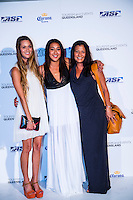 SURFERS PARADISE, Queensland/Australia (Friday, March 1, 2013) Monyca Byrne-Wickey (HAW) Kelia Moniz (HAW) and her mother Tami Moniz (HAW). - The world's best surfers congregated last night at the QT Hotel in Surfers Paradise to celebrate the 2013 ASP World Surfing Awards, officially crowning last year's ASP World Champions and welcoming in the new year..Joel Parkinson (AUS), 31, long considered to be a threat to the ASP World Title ever since his inception amongst the world's elite over a decade ago, was awarded his maiden crown last night. Amidst a capacity crowd of the world's best surfers and hometown supporters, the Gold Coast stalwart brought the house down with a heartfelt and emotional speech..?It's beautiful to have everyone here tonight,? Parkinson said. ?We all come together and really celebrate last season amongst our friends and family. The new year, for me, begins tomorrow. Tonight, I just feel so fortunate to be up here and to be supported by my beautiful family. I love them and am only here because of them.?.FULL LIST OF AWARDS' RECIPIENTS:.2012 ASP World Champion: Joel Parkinson (AUS).2012 ASP World Runner-Up: Kelly Slater (USA).2012 ASP Rookie of the Year: John John Florence (HAW).2012 ASP Women's World Champion: Stephanie Gilmore (AUS).2012 ASP Women's World Runner-up: Sally Fitzgibbons (AUS).2012 ASP Women's Rookie of the Year: Malia Manuel (HAW).2012 ASP Breakthrough Performer: Sebastian Zietz (HAW).2012 ASP Women's Breakthrough Performer: Lakey Peterson (USA).2012 ASP World Longboard Champion: Taylor Jensen (USA).2012 ASP Women's World Longboard Champion: Kelia Moniz (HAW).2012 ASP World Junior Champion: Jack Freestone (AUS).2012 ASP Women's World Junior Champion: Nikki Van Dijk (AUS).ASP Life Member/Chairman Emeritus: Richard Grellman.ASP Service to the Sport: Randy Rarick.Peter Whittaker Award: Adrian Buchan.2012 ASP Men's Heat of the Year (Fan Vote): Mick Fanning (AUS) vs. Kelly Slater (USA) - Rip Curl Pro Bells Beach.2012 ASP Women's Heat o