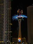 Las Vegas rings in 2018 with fireworks from the top of the Stratosphere