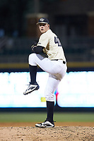 Wake Forest Demon Deacons relief pitcher Cole McNamee (40) in action against the Charlotte 49ers at BB&T BallPark on March 13, 2018 in Charlotte, North Carolina.  The 49ers defeated the Demon Deacons 13-1.  (Brian Westerholt/Four Seam Images)