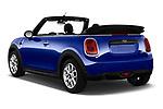 Car pictures of rear three quarter view of a 2018 Mini MINI One Salt 2 Door Convertible angular rear